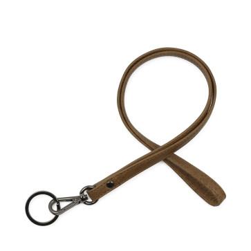 Markberg Melba Key Chain - vintage tan med gunmetal