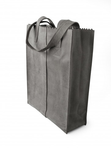 MY PAPER BAG Long handle Black Zipper